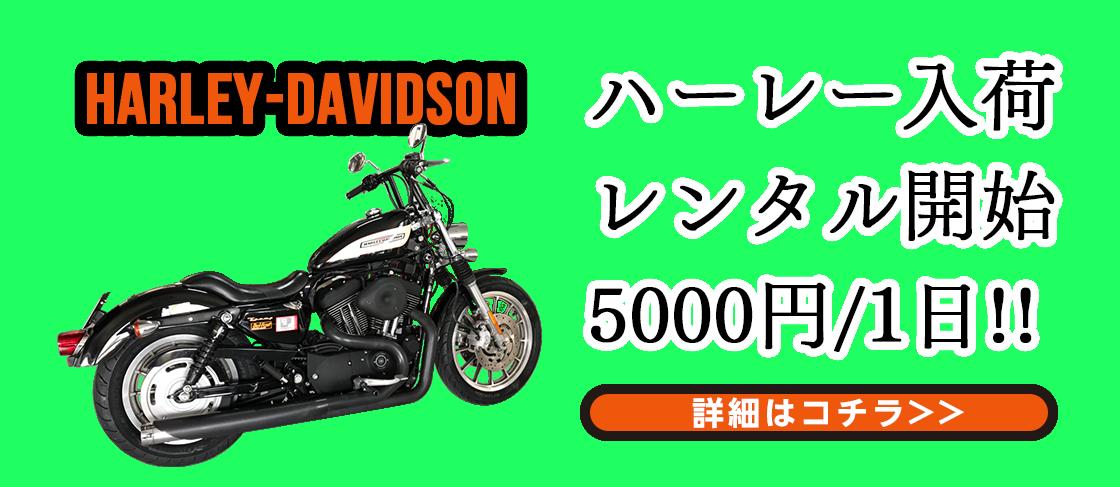 ハーレー5000円/1日