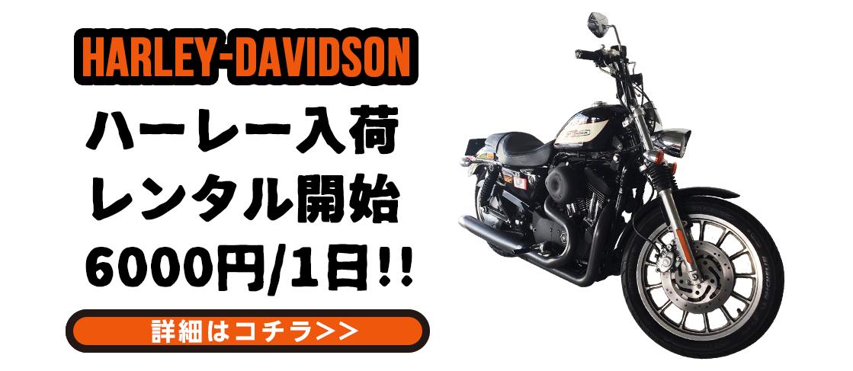 ハーレー6000円/1日